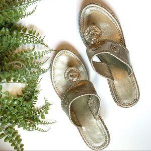 Jack Rogers Platinum Espadrille Wedge Sandals